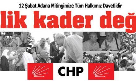 """12 Şubat Adana """"İşsizlik Kader Değildir"""" Mitingi"""
