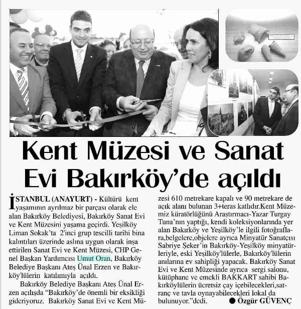 Kent Müzesi Açılışı - Bakırköy - Umut Oran