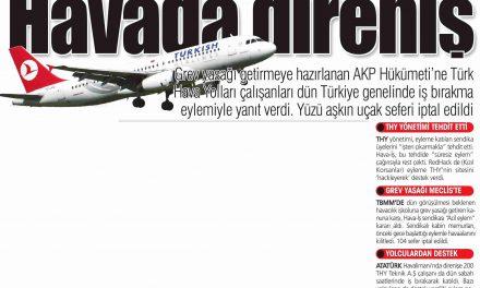 Havada direniş-Yurt Gazetesi