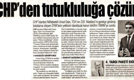 CHP'den Tutukluluğa Kesin Çözüm – Yurt Gazetesi