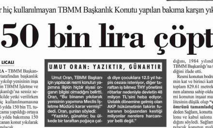 150 bin lira çöpte-Cumhuriyet