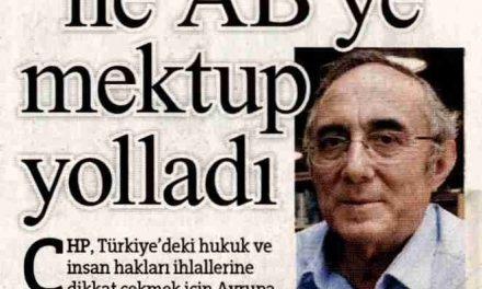 CHP 'İki Kalp Ağrısı' ile AB'ye mektup yolladı-Hürriyet