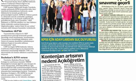 CHP, KPSS iddialarını yargıya götürüyor-Milliyet