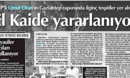 Umut Oran'ın Gaziantep Ziyareti Sonrasındaki Önemli Değerlendirmeleri  Cumhuriyet Gazetesi