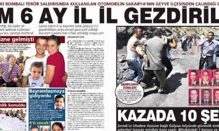 """""""Tam 6 Ay İl İl Gezdirildi"""" Milliyet Gazetesi"""