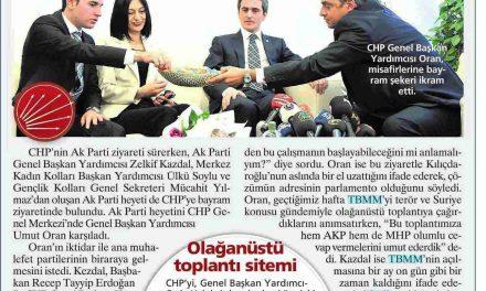 Oran: Çözümün Adresi Meclis – Milliyet Gazetesi