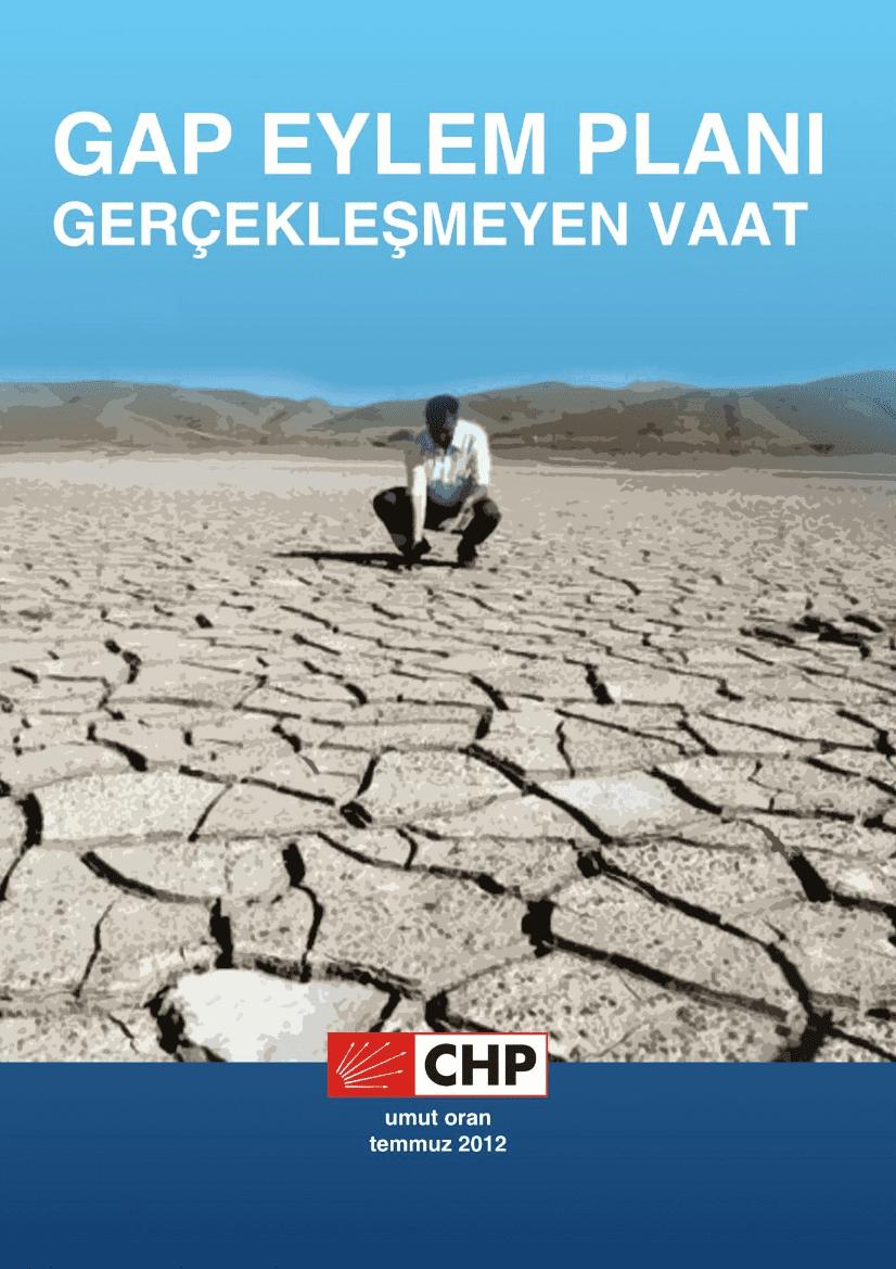 GAP Raporu Kapak sayfası, kurak topraklarda bir çiftçi