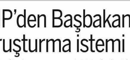 CHP'den Başbakan'a soruşturma istemi-Taraf
