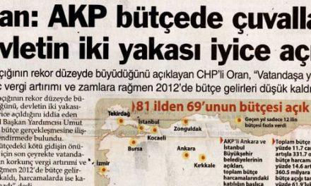 AKP bütçede çuvalladı! – Sözcü