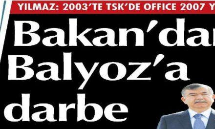 Bakan'dan Balyoz'a darbe – Cumhuriyet