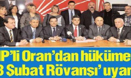 CHP'li Oran'dan hükümete  '28 Şubat Rövanşı' uyarısı-Adana Bölge