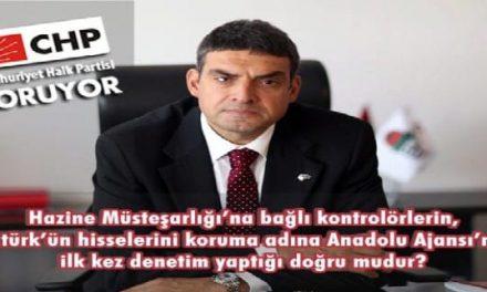 Hazine'den Anadolu Ajansı'na Atatürk teftişi !