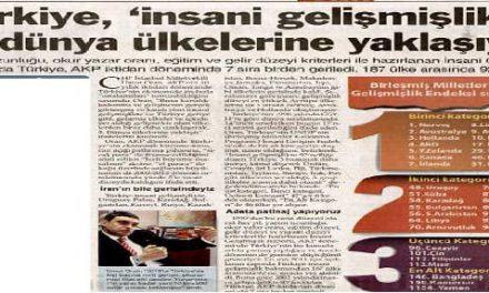 """Türkiye,""""insani gelişmişlik""""te 3.dünya ülkelerine yaklaşıyor-Sözcü"""