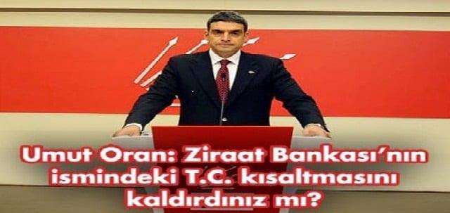 Babacan'a Ziraat sorusu: Bankanın ismindeki T.C. kısaltmasını mı kaldırdınız?