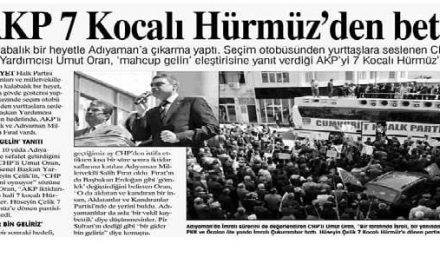 AKP 7 Kocalı Hürmüz'den beter -Yurt Gazetesi