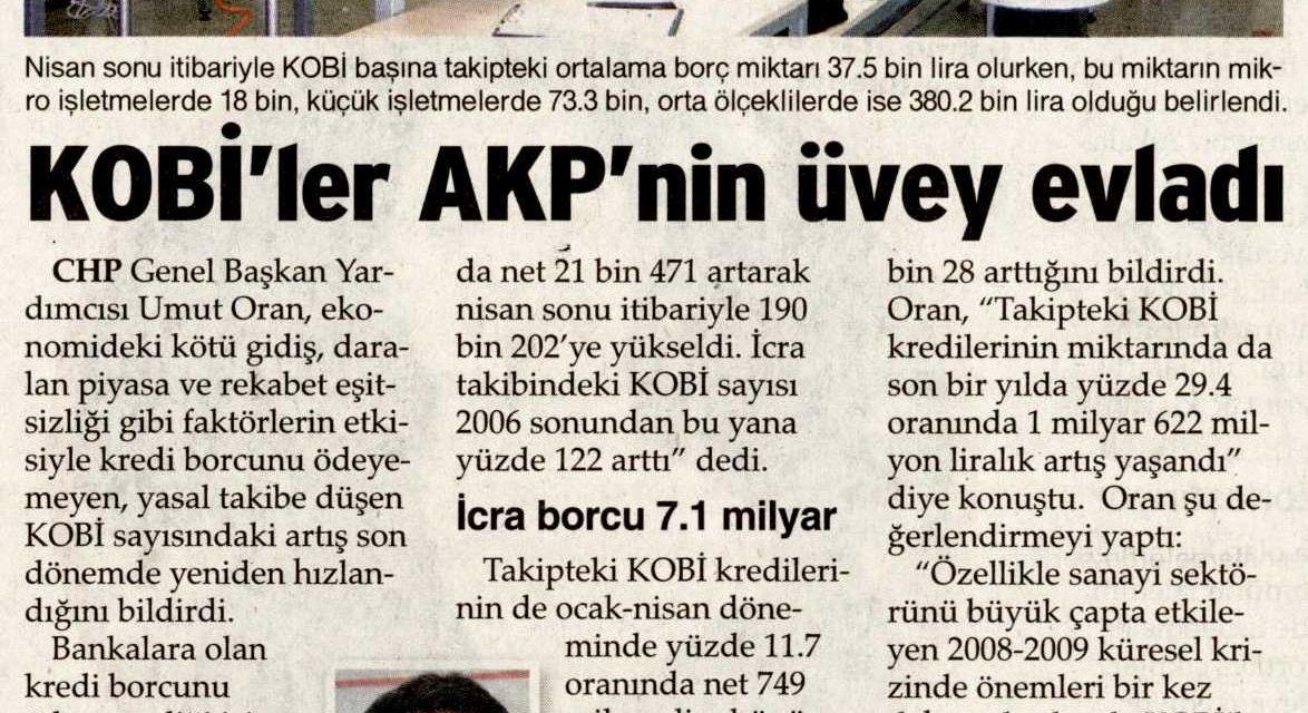 KOBİ'ler AKP'nin üvey evladı-Sözcü