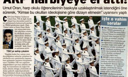 AKP harbiyeye el attı ! Sözcü