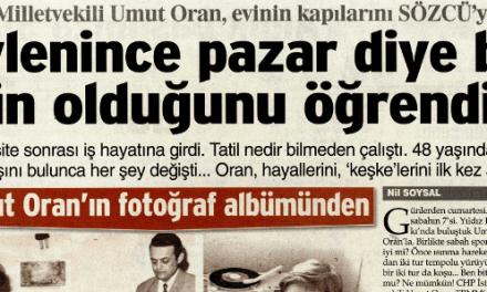 CHP Milletvekili Umut Oran, evinin kapılarını SÖZCÜ'ye açtı