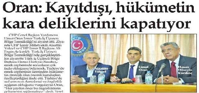 Oran:Kayıtdışı, hükümetin kara deliklerini kapatıyor-Yenigün İzmir