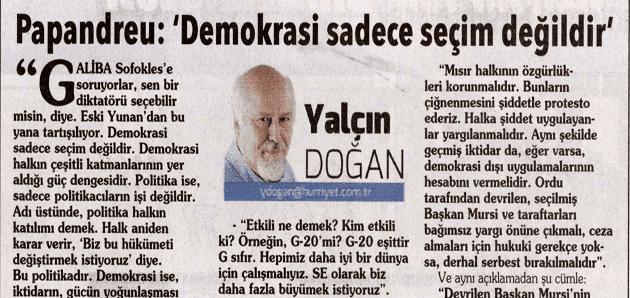 Papandreu: 'Demokrasi sadece seçim değildir'
