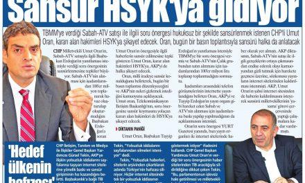 Milli iradeye sansür-Yurt Gazetesi