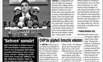 Meclis'e baskı var-Yurt Gazetesi