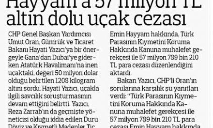 Hayyam'a 57 milyon TL altın dolu uçak cezası-Radikal