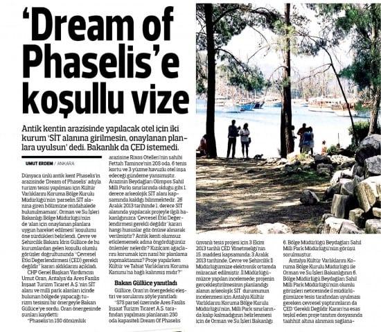 """""""Dream of Phaselis'e koşullu vize-Radikal"""