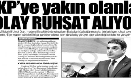 AKP'ye yakın olanlar Kolay Ruhsat Alıyor-Yurt Gazetesi