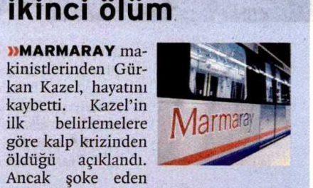 Marmaray'da İkinci ölüm -Birgün