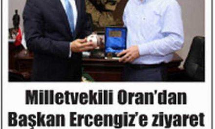 Milletvekili Oran'dan Başkan Ercengiz'e ziyaret -Burdur Ses 15