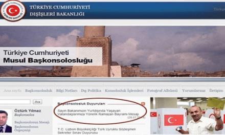 Musul Başkonsolosluğu web sitesine Davutoğlu mesajını kim yükledi?