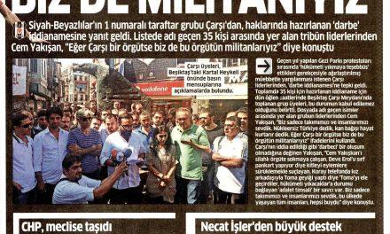 """""""Çarşı örgütse biz de militanıyız"""" -Fanatik"""