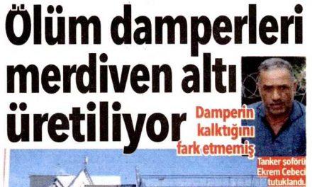 Ölüm damperleri merdiven altı üretiliyor – Hürriyet