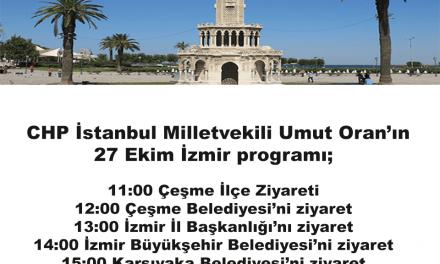Umut Oran yarın İzmir'de