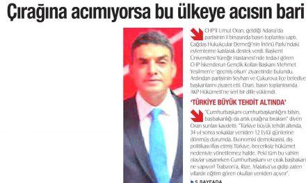 Çırağına acımıyorsa bu ülkeye acısın bari – Adana Egemen Gazetesi