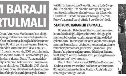 Türkiye seçim barajı ayıbından kurtulmalı – Olay Bursa