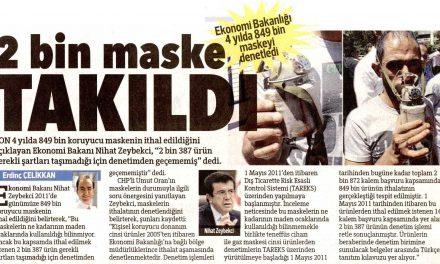 2 bin maske takıldı – Hürriyet
