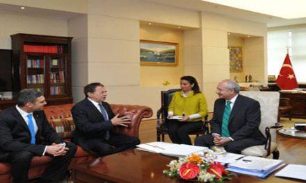 Luis Ayala Genel Başkan Kemal Kılıçdaroğlu'nu ziyaret etti.