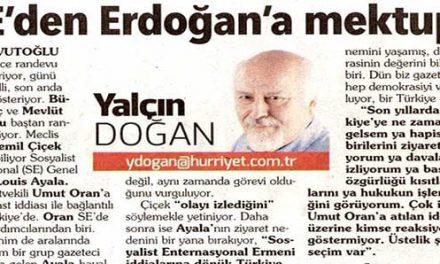 SE'den Erdoğan'a mektup  – Yalçın Doğan