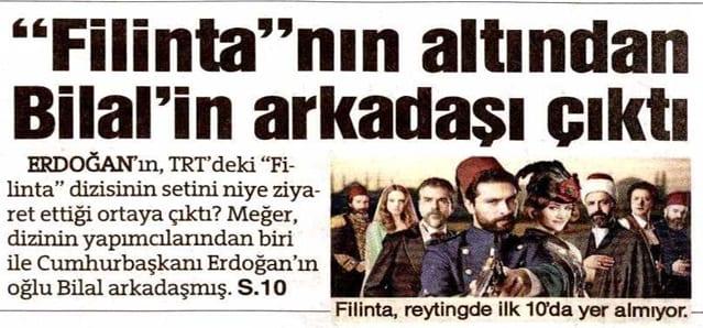 """""""Filinta""""nın altından Bilal'in arkadaşı çıktı – Sözcü"""