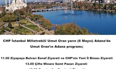 Umut Oran yarın Adana'da