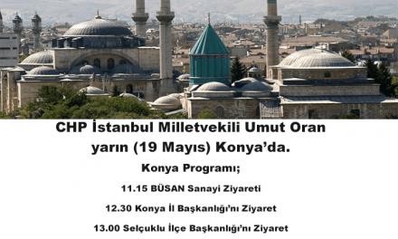 Umut Oran yarın Konya'da