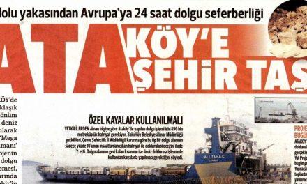 Ataköy'e Şehir Taşı – Hürriyet