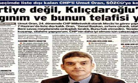 Partiye değil, Kılıçdaroğlu'na kırgınım ve bunun telafisi yok -Sözcü