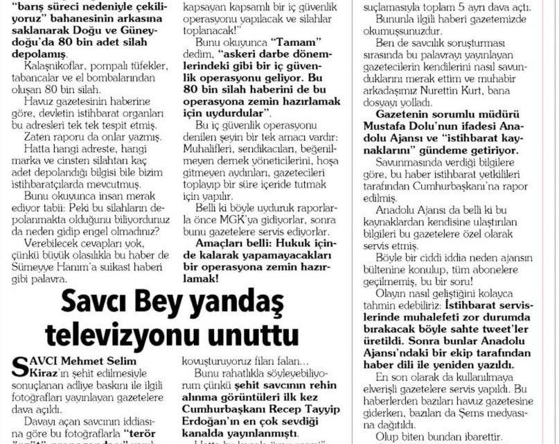 MİT üretti, AA haberleştirdi –  Mehmet Yılmaz
