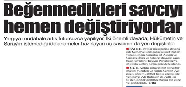 Yargıya atama müdahalesi – Yurt Gazetesi