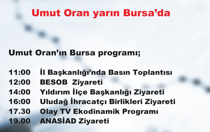 Umut Oran yarın Bursa'da