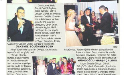 Yalçın Görgöz'ün nikahı buluşturdu – Afyon Kocatepe Gazetesi