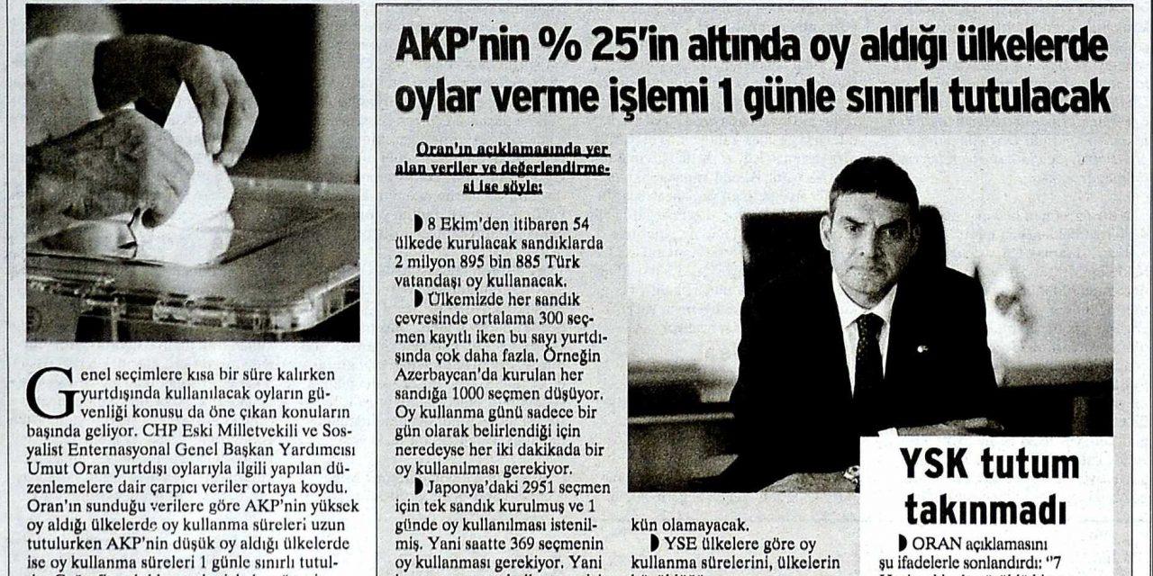 """AKP'nin """"oy kurnazlığı"""" sınır tanımıyor -Birgün"""